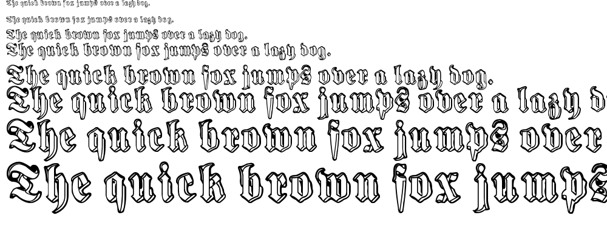 Harmaa Perkele font