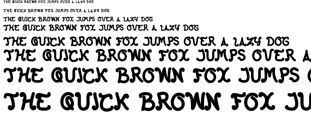 the happy face return font