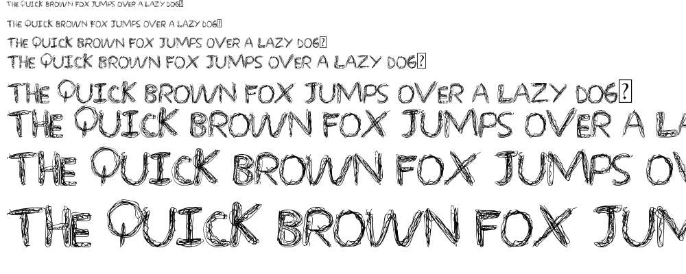 Over Scribble font