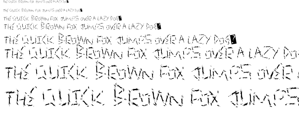 Quick Slash font