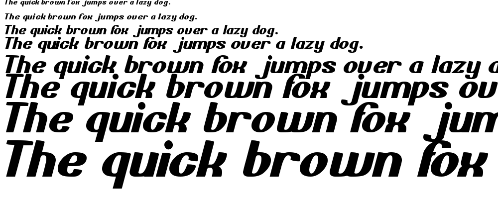 Bold and blue font