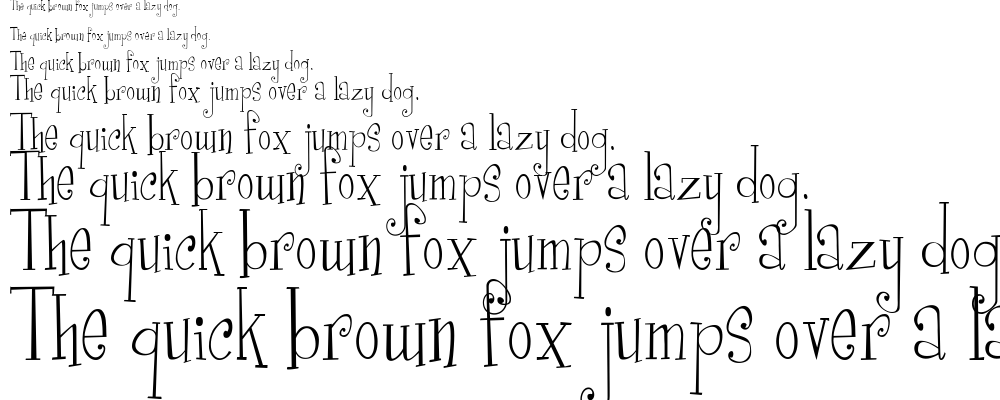 Curly Cue font