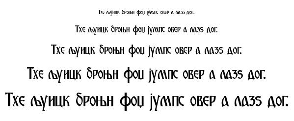 M-ancin font