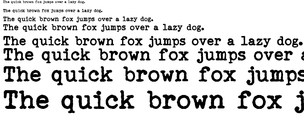 Remingtoned type font