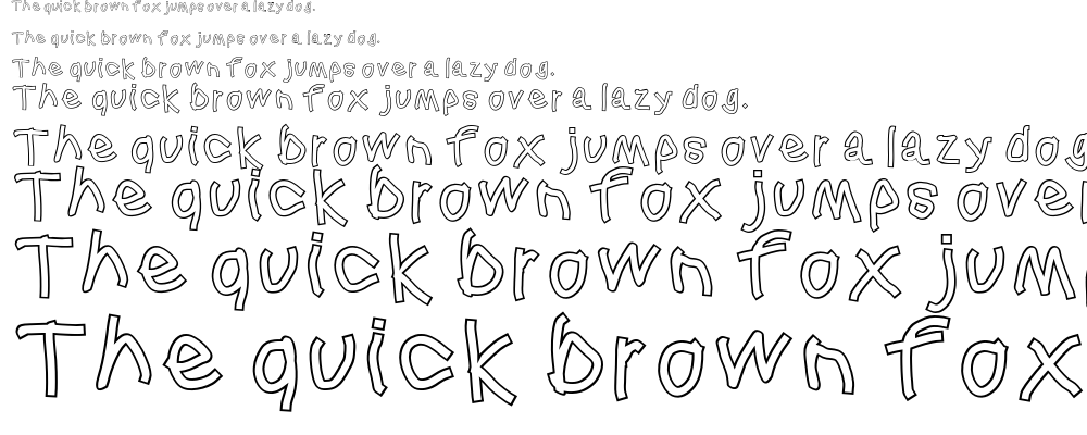 Squared hand font